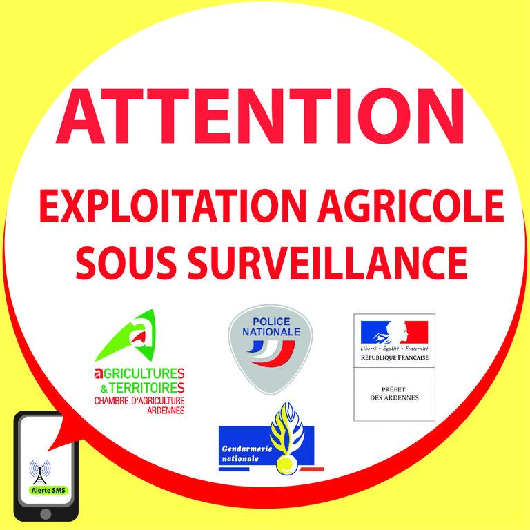 Le Dispositif ALERTE SMS 08 « Vols Dans Les Exploitations » A Pour Objectif  De Diffuser Rapidement Une Information En Matière De Délinquance Et De  Délits.
