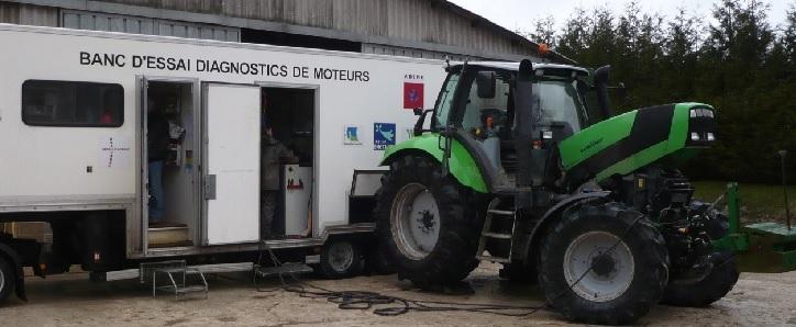 Banc Dessai Moteur Chambre Dagriculture Ardennes